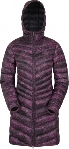 Mountain Warehouse Florence Long Printed Padded - Pink Jacket