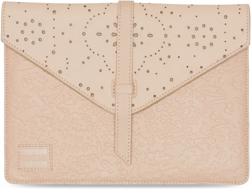 Toms Brown Vachetta Pattern Embossed Jetset Tablet Sleeve Accessorie