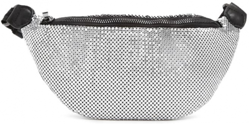 Forever21 Forever 21 Chainmail , Silver Fanny Pack