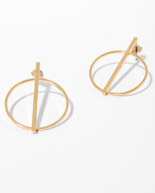 7 For All Mankind Women's Five And Two Raine Gold Earring