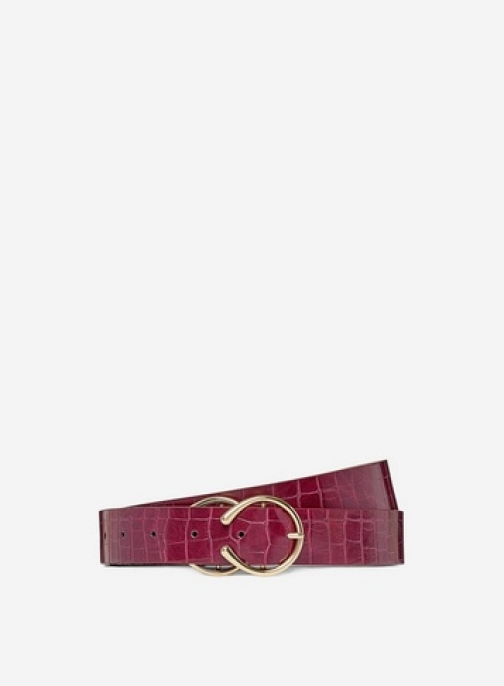 Dorothy Perkins Dp Curve Red Double Buckle Belt