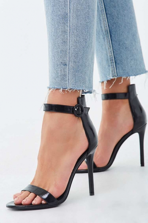 Forever21 Forever 21 Faux Leather Stiletto Heels , Black Shoes