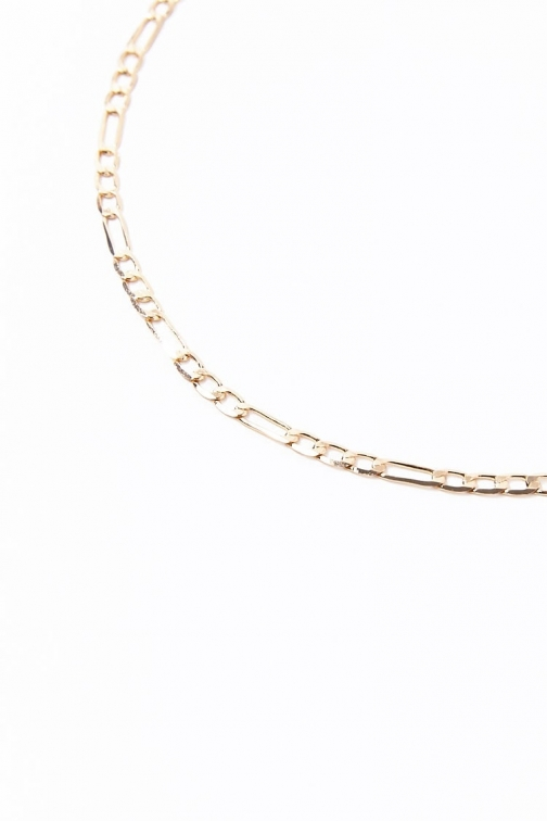 Forever21 Forever 21 Hammered Figaro Chain , Gold Necklace