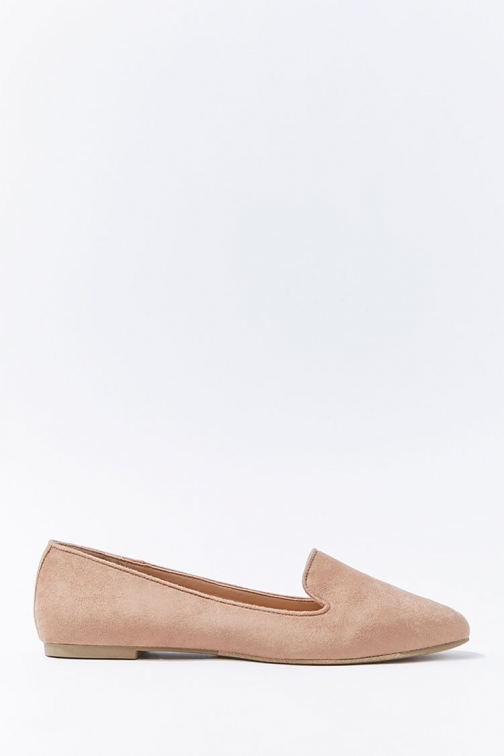 Forever21 Forever 21 Faux Suede Loafers , Taupe Shoes