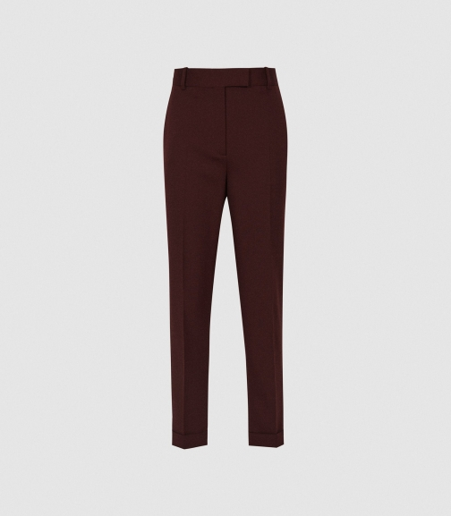 Reiss Freya - Slim Fit Berry, Womens, Size 4 Tailored Trouser