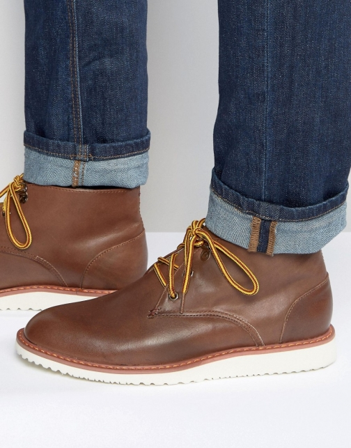 Bellfield Desert Brown Leather Boot