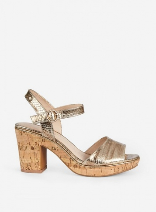 Dorothy Perkins Gold 'Rhonda' 2 Part Wedges Wedge Sandal