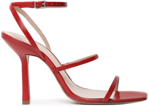 Schutz Shoes Nita Sandal - 6 Scarlet Patent Leather Sandals