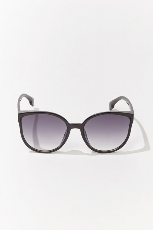 Forever21 Forever 21 Round Gradient , Black/grey Sunglasses