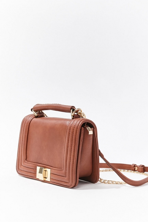 Forever21 Forever 21 Chain-Accent , Brown Crossbody Bag