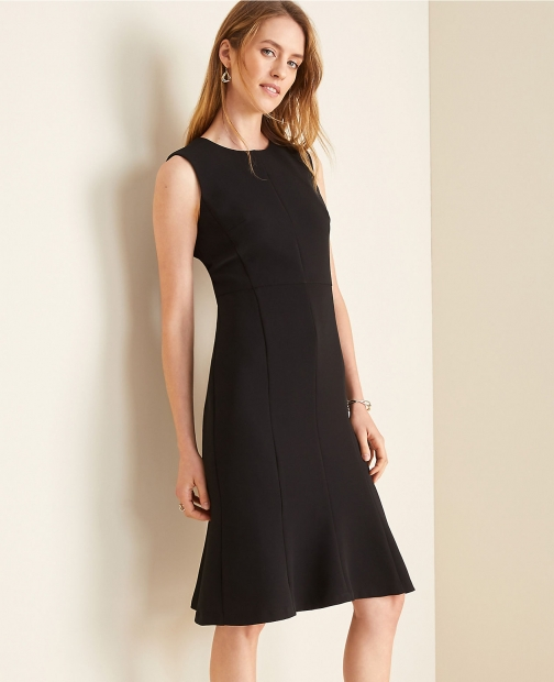 Ann Taylor The Flare Doubleweave Dress