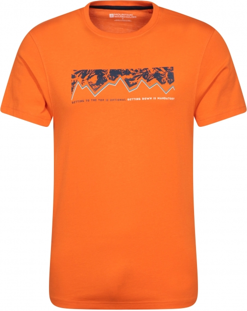 Mountain Warehouse Getting To The Top Mens - Orange T-Shirt