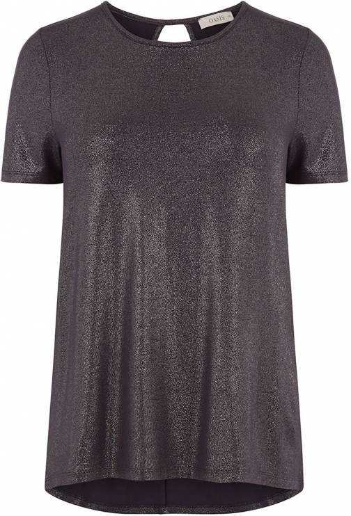 Oasis FOIL TWIST BACK TEE T-Shirt