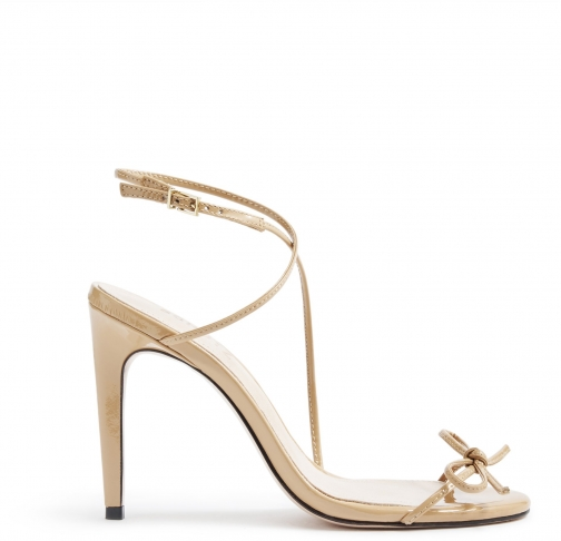 Schutz Shoes Dawson Sandal - 7 New Pessego Patent Leather Sandals