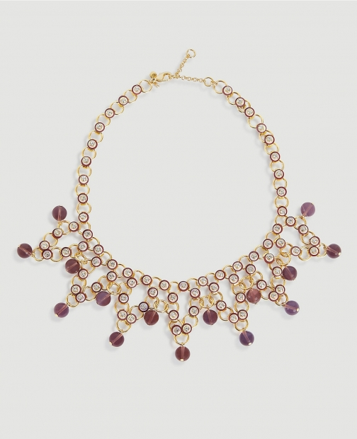 Ann Taylor Sequin Beaded Statement Necklace