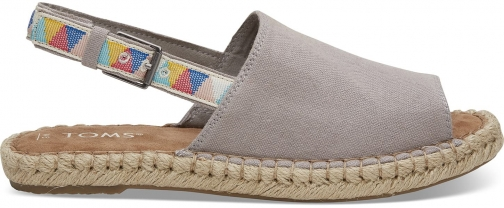 Toms TOMS Drizzle Grey Oxford Women's Clara Espadrilles Shoes - Size UK7.5 / US9.5 Espadrille