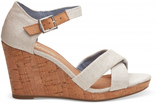 Toms Tan Yarn Dye Women's Sienna - Size UK7.5 / US9.5 Wedge