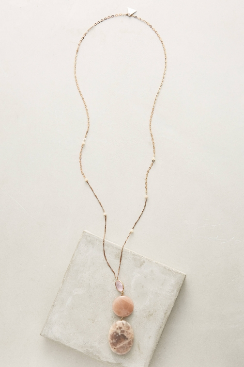 Anthropologie Sand Dunes Necklace Pendant