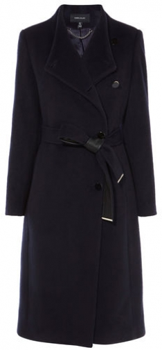 Karen Millen High-Neck Wrap Coat Jacket