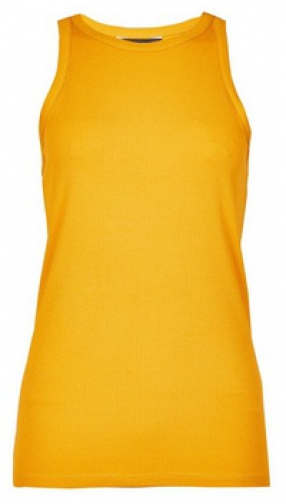 Dorothy Perkins Yellow Cutaway Rib Vest Top