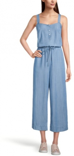 Loft Strappy Chambray Jumpsuit