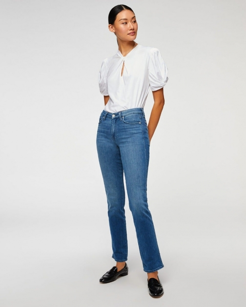 7 For All Mankind Womens Kimmie Straight Shoreline Drive Size: 23 Trouser