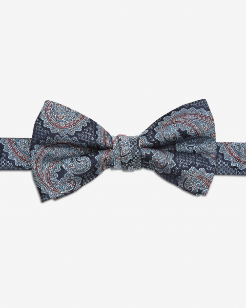 Ted Baker Paisley Silk Blue Bow Tie