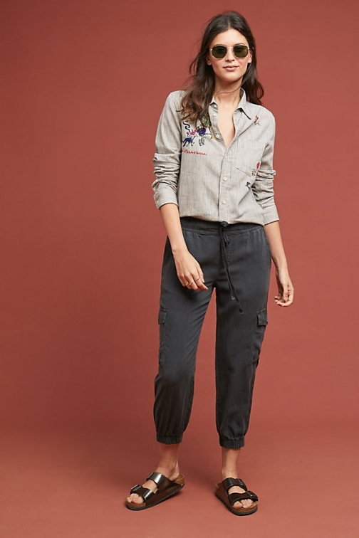Anthropologie Cloth & Stone Utility Joggers - Grey, Size Athletic Pant