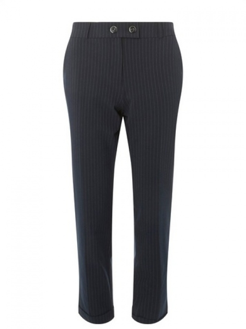 Dorothy Perkins Womens Navy Pinstriped - Blue, Blue Tailored Trouser