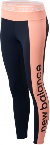 New Balance 01154 Women's Relentless Graphic High Rise 7/8 - Black/Pink (WP01154ECL) Tight
