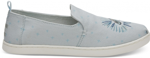 Toms Disney X TOMS Blue Cinderella Glass Slipper Women's Deconstructed Alpargatas - Size UK4.5 / US 6.5 Espadrille