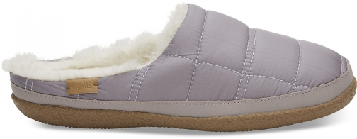Toms Purple Quilted Women's Ivy Slippers