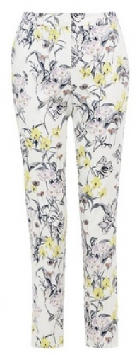 Dorothy Perkins Tall Floral Print Ankle Grazer Trousers Trouser