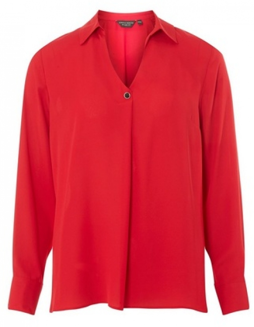 Dorothy Perkins Red One Button Top Collar