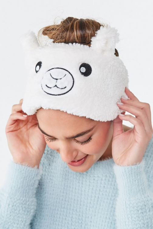 Forever21 Forever 21 Plush Llama Headwrap , White Headwear