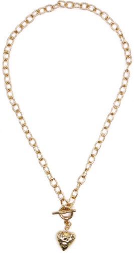Oasis Heart T-Bar Necklace