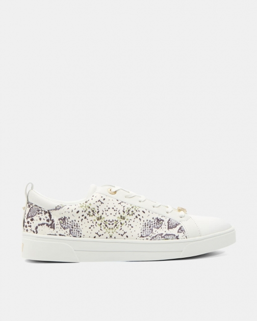 Ted Baker Snake Print Lace Up Trainer
