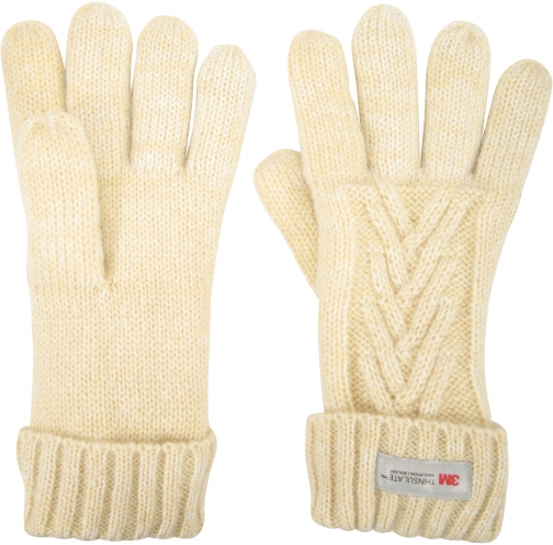Mountain Warehouse Thinsulate Cable Knit Womens - Beige Glove