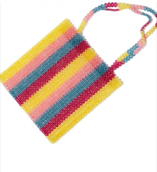 Forever21 Forever 21 Beaded Colorblock Bag , Pink/multi Tote