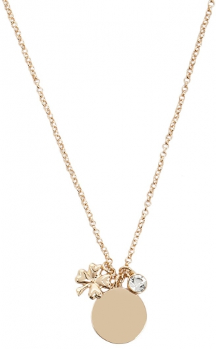 Forever21 Forever 21 Long Charm Gold/clear Necklace