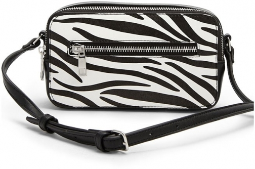 Forever21 Forever 21 Zebra Print , White/black Crossbody Bag