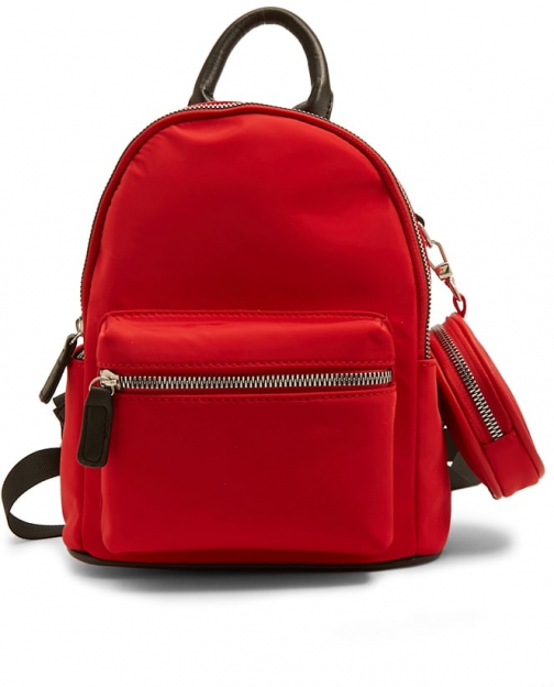 Forever21 Forever 21 Faux Leather Trim Red Backpack