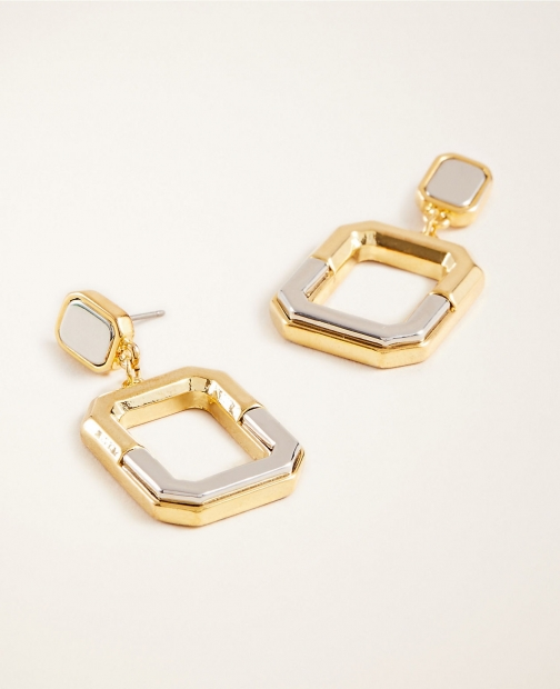 Ann Taylor Mixed Metal Link Earring