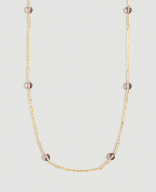 Ann Taylor Glass Beaded Station Necklace