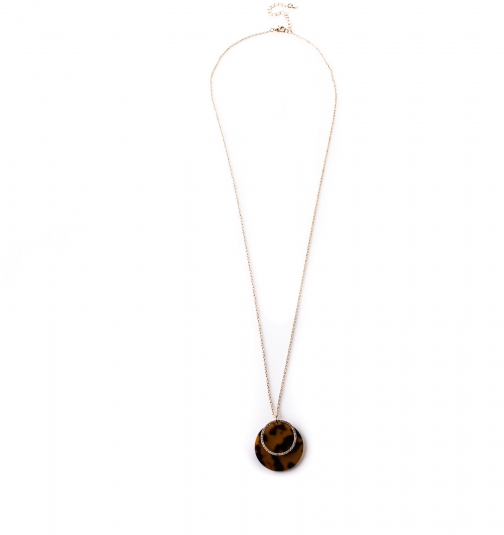Oasis Diamante Disc Necklace