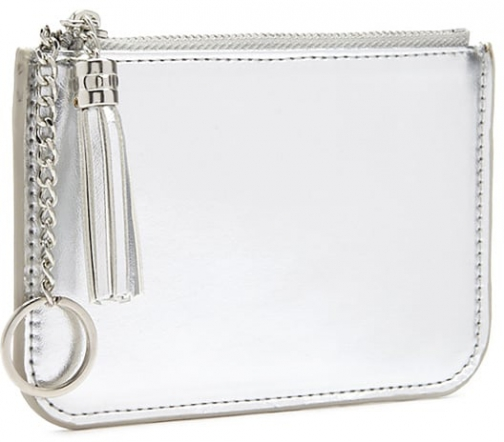 Forever21 Forever 21 Metallic Coin , Silver Purse