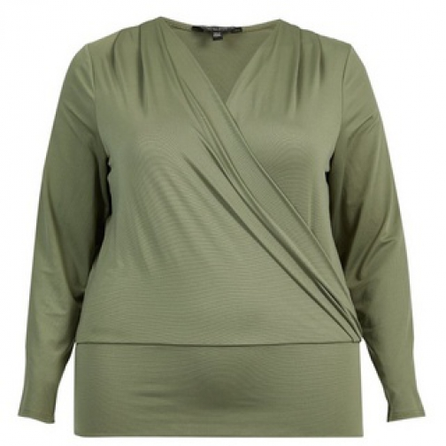Dorothy Perkins Dp Curve Khaki Wrap Top