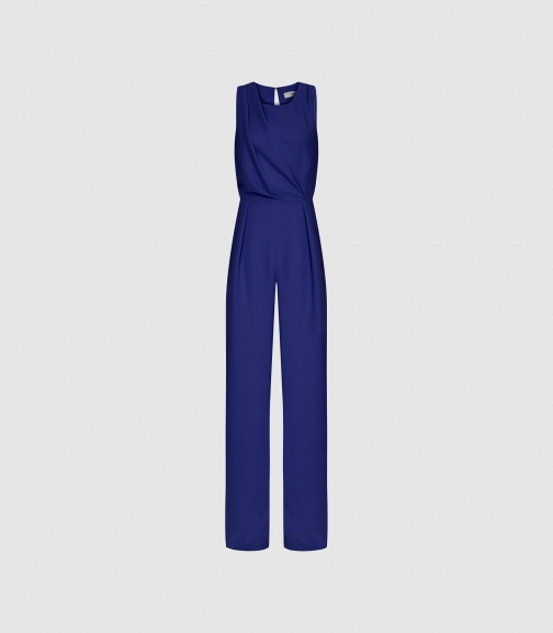 efd1f0645 Reiss. Chey - Cut Out Detail Blue, Womens, Size 6 Jumpsuit