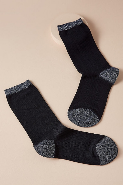 Dear Denier Ashley Ribbed-Ankle Sock