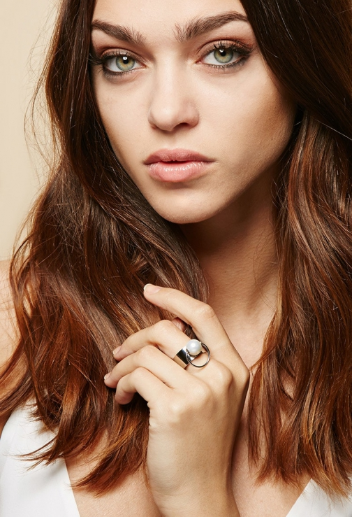 Forever21 Forever 21 Amber Sceats Faux Pearl Bull , Silver/white Ring